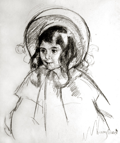 Mary Cassatt: Sarah Wearing Her Bonnet. ca. 1904. Lithograph.