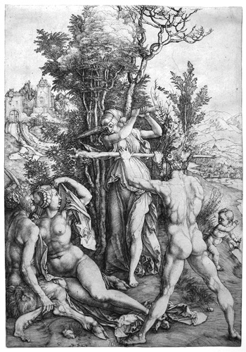 Hercules at the crossroads by Albrecht Durer